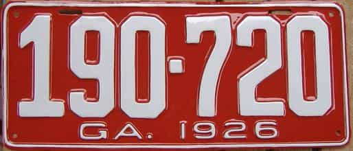 YOM RESTORED 1926 Georgia license plate for sale
