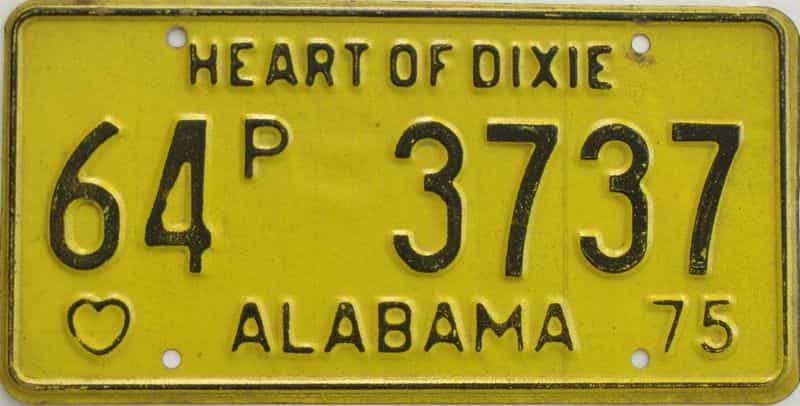 1975 Alabama (Truck) license plate for sale