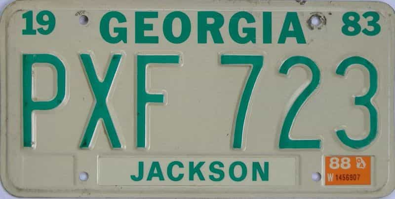 1988 GA license plate for sale