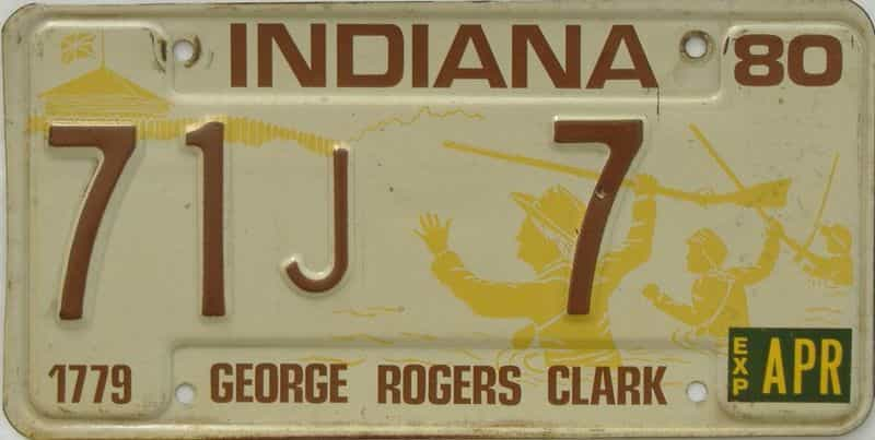 1980 Indiana license plate for sale