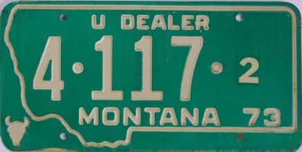 1973 Montana (Dealer) license plate for sale