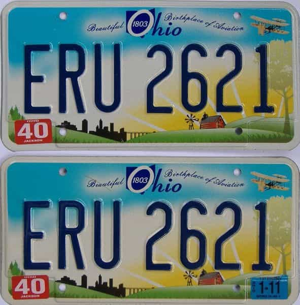 2011 OH (Pair) license plate for sale