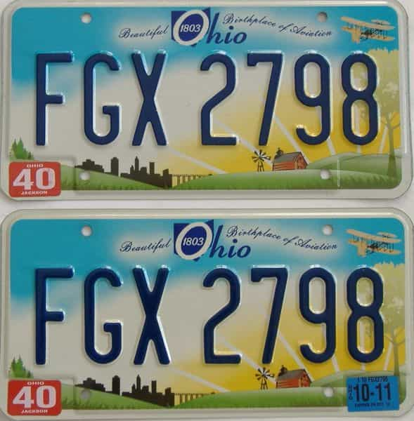 2011 Ohio (Pair) license plate for sale