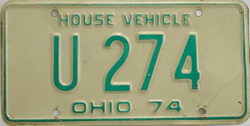 1974 Ohio license plate for sale