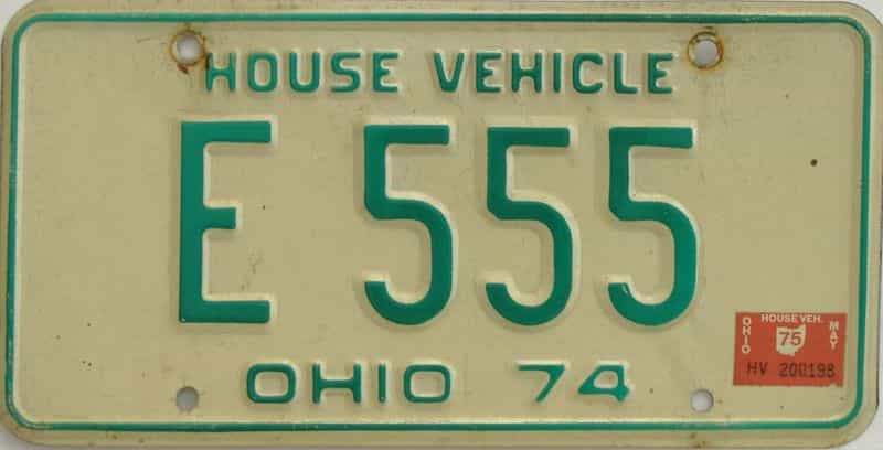 1975 OH license plate for sale