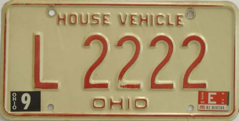 1980 OH license plate for sale