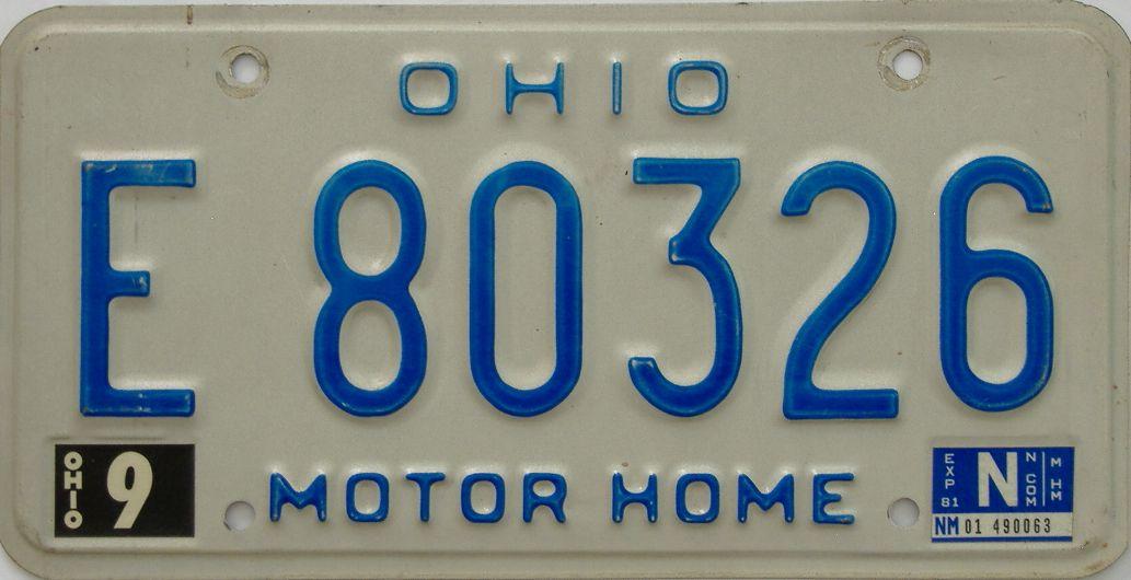 1981 Ohio license plate for sale