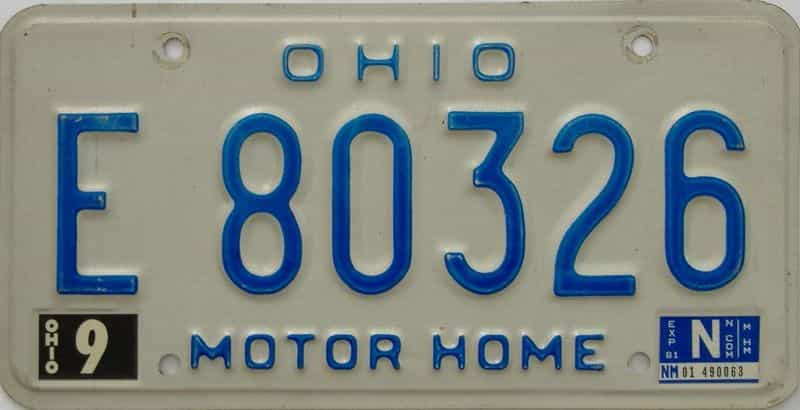 1981 Ohio license plate for sale