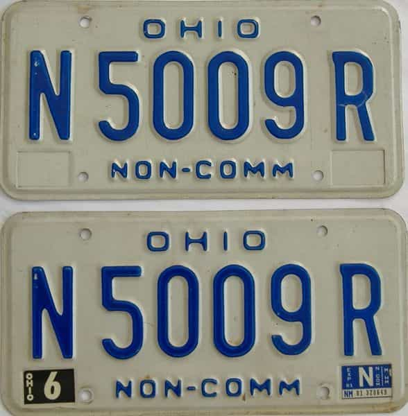1981 Ohio  (Non Pass) license plate for sale