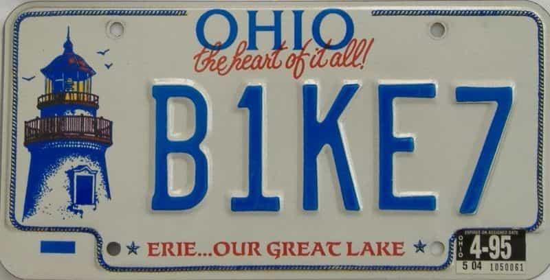 1995 Ohio  (Vanity) license plate for sale
