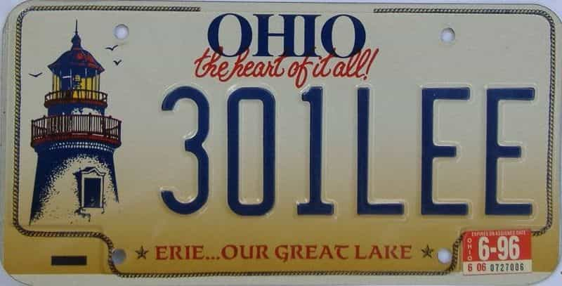 1996 Ohio  (Vanity) license plate for sale
