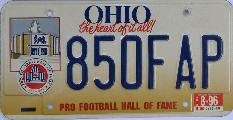 1996 Ohio (Pair) license plate for sale