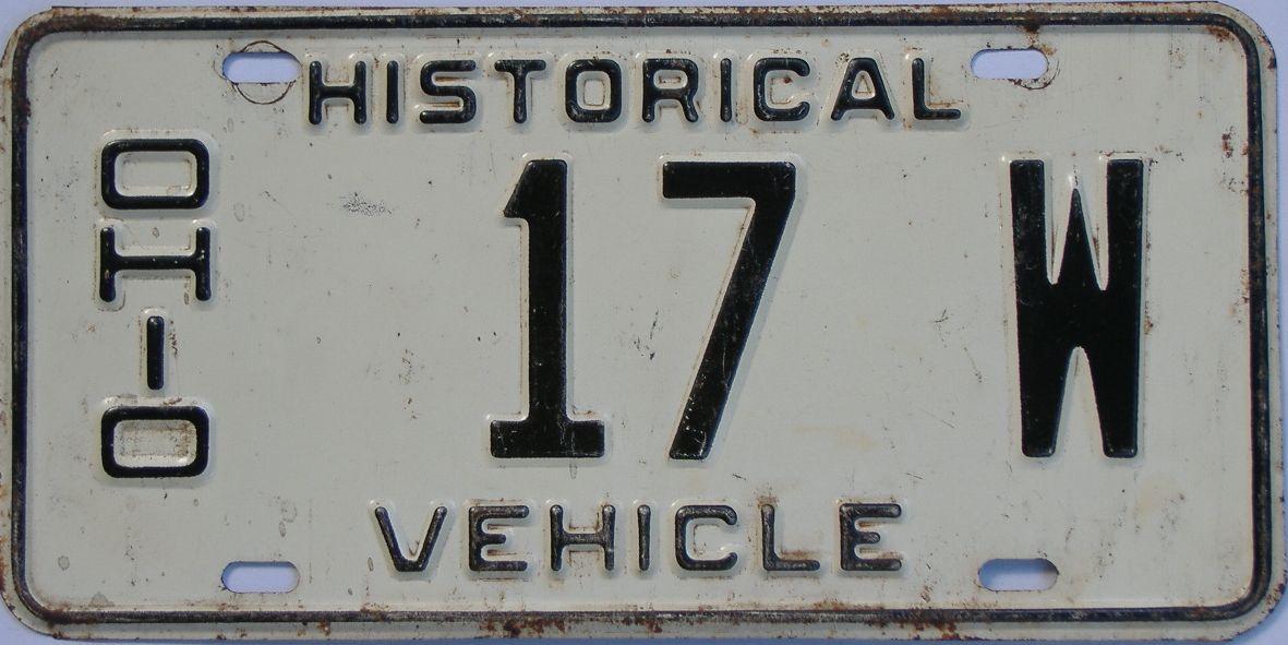 Ohio license plate for sale