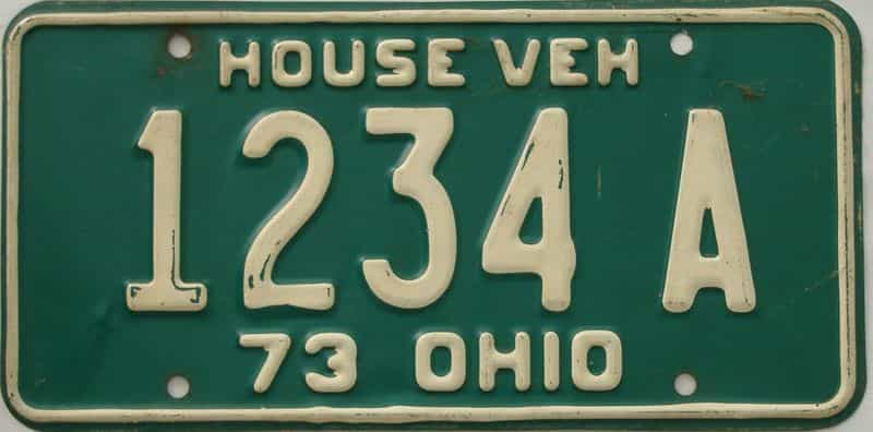 1973 OH license plate for sale