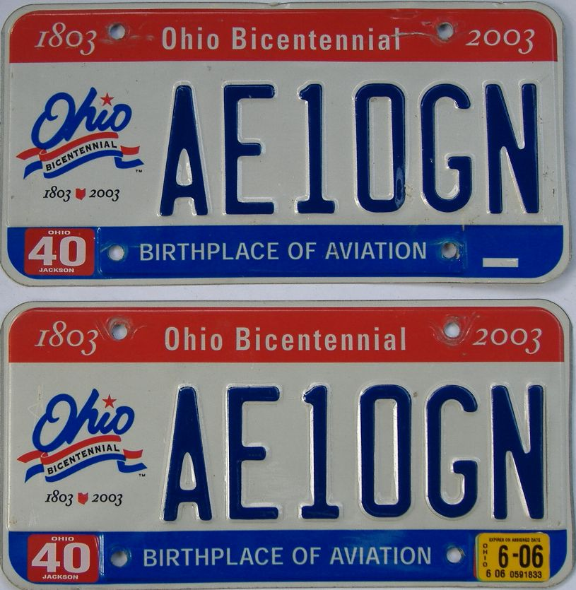 2006 Ohio (Pair) license plate for sale