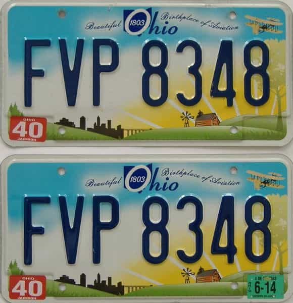 2014 Ohio (Pair) license plate for sale