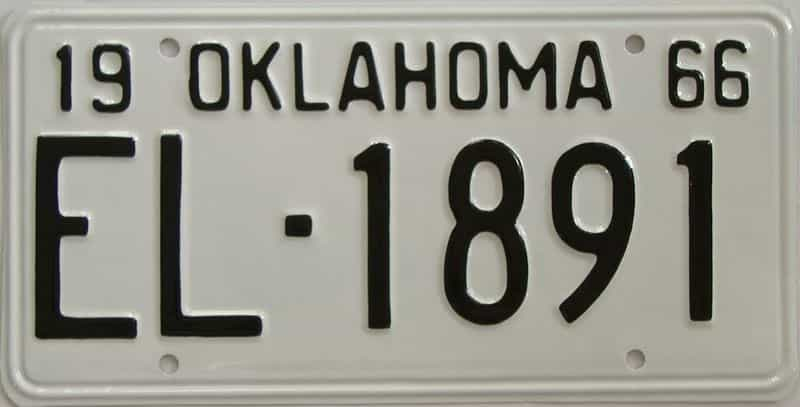 RESTORED 1966 OK license plate for sale