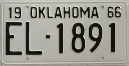 RESTORED 1966 Oklahoma license plate for sale