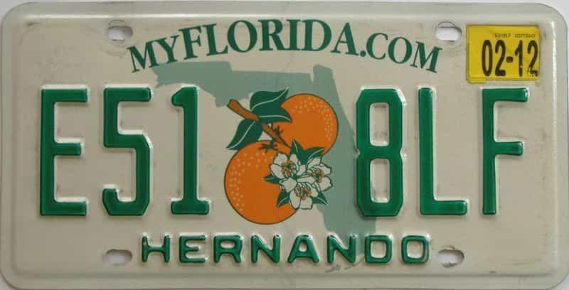 2012 FL license plate for sale
