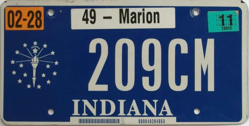 2011 Indiana license plate for sale
