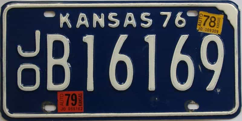 1979 Kansas license plate for sale