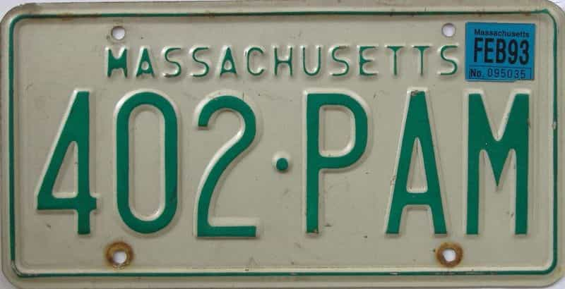 1993 MA license plate for sale