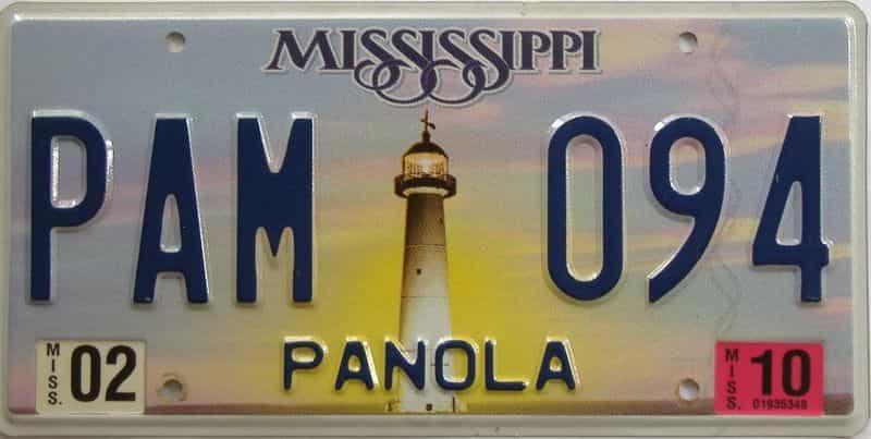 2010 Mississippi (Natural) license plate for sale