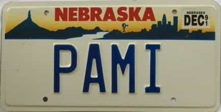 1991 Nebraska (Vanity) license plate for sale
