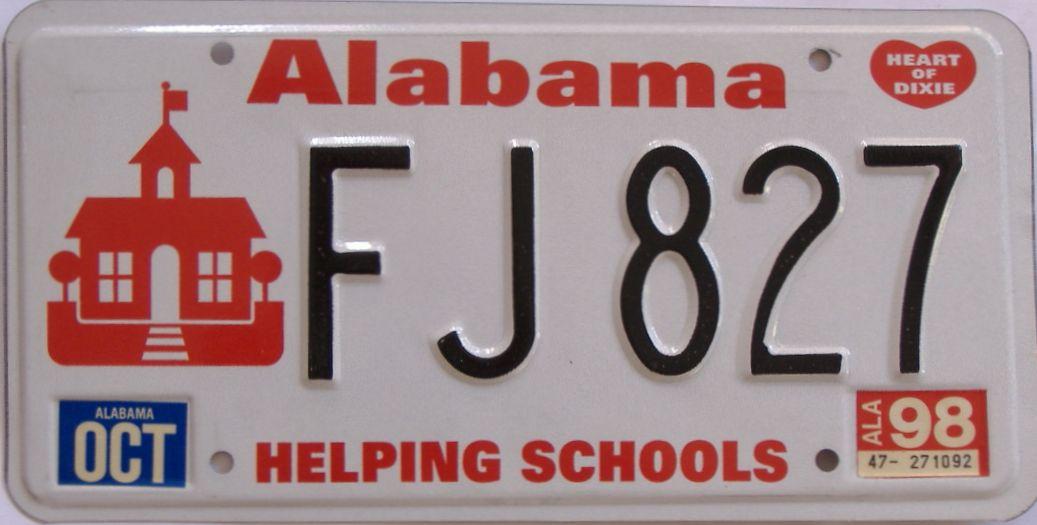 1998 AL (Natural) license plate for sale