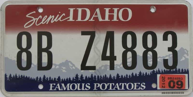 2009 ID (Single) license plate for sale
