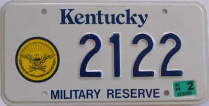2006 Kentucky license plate for sale