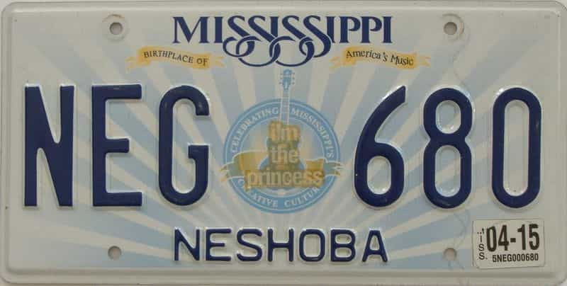 2015 Mississippi  (Natural) license plate for sale
