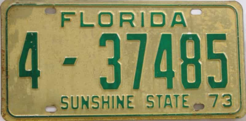1973 Florida license plate for sale