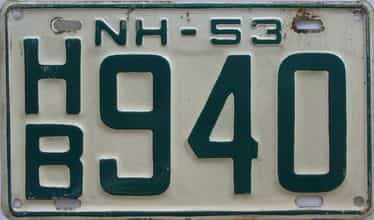 1953 New Hampshire  (Single) license plate for sale