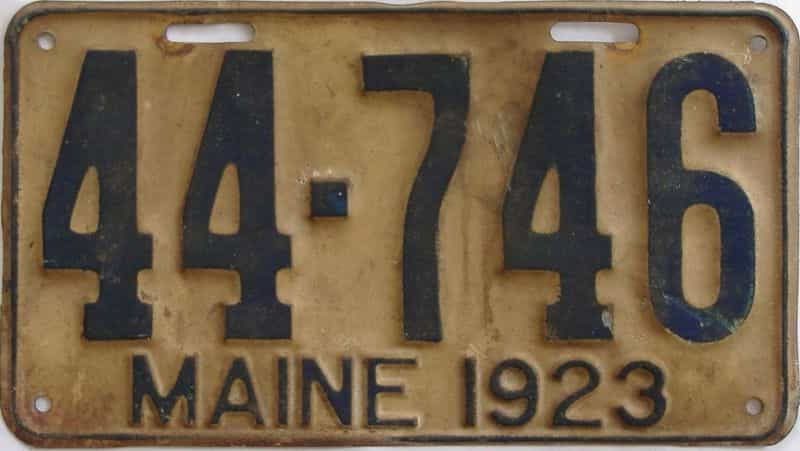 1923 ME (Single) license plate for sale