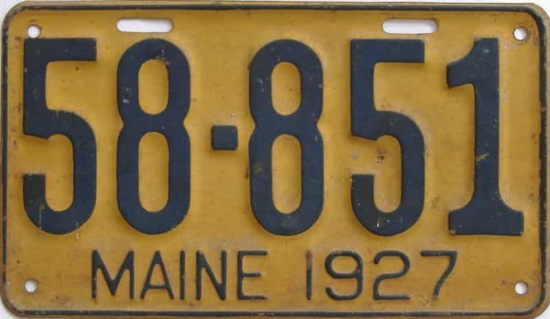 1927 ME (Single) license plate for sale