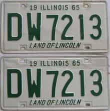 1965 Illinois  (Pair) license plate for sale
