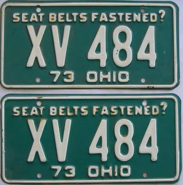 1973 Ohio (Pair) license plate for sale