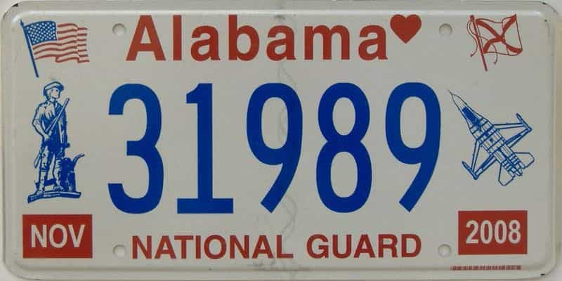 2008 Alabama license plate for sale
