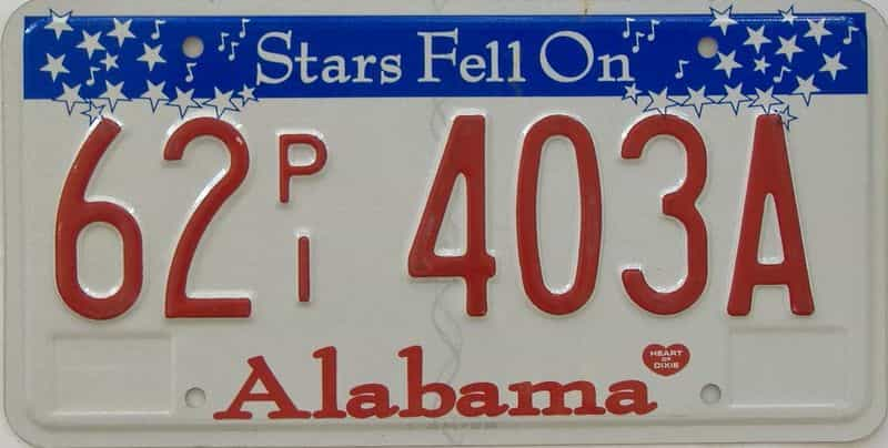 Alabama (Truck) license plate for sale