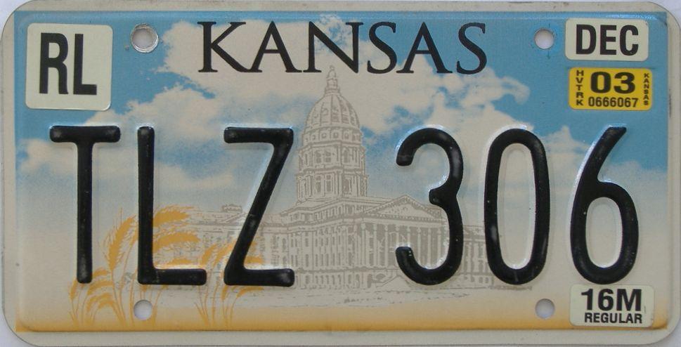 2003 Kansas (Truck) license plate for sale