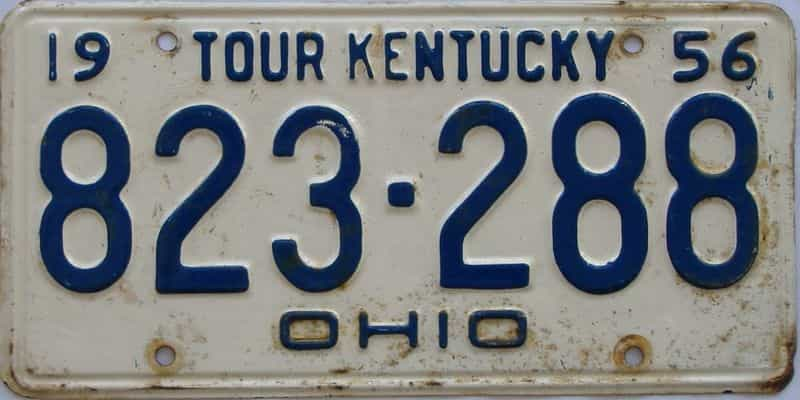 1956 Kentucky license plate for sale