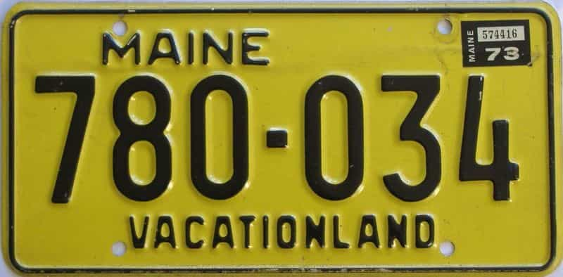 1973 ME (Single) license plate for sale