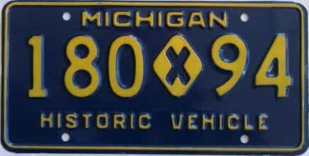 1970 Michigan (Single) license plate for sale