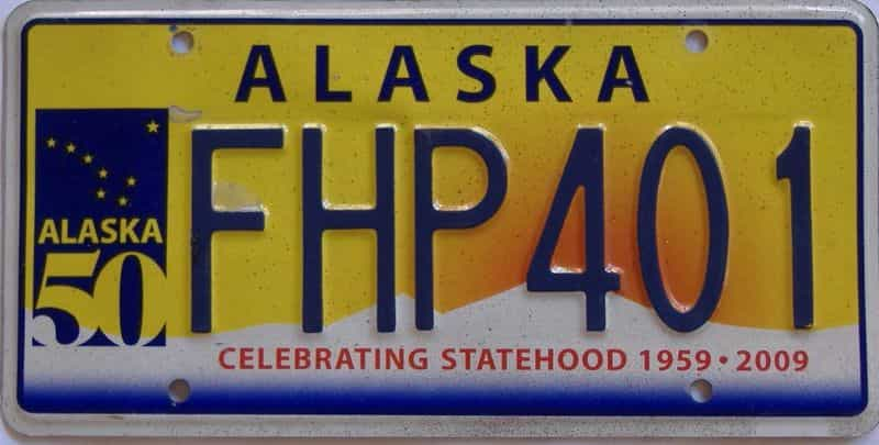AK license plate for sale