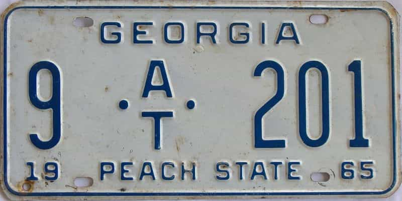 YOM 1965 GA (Trailer) license plate for sale