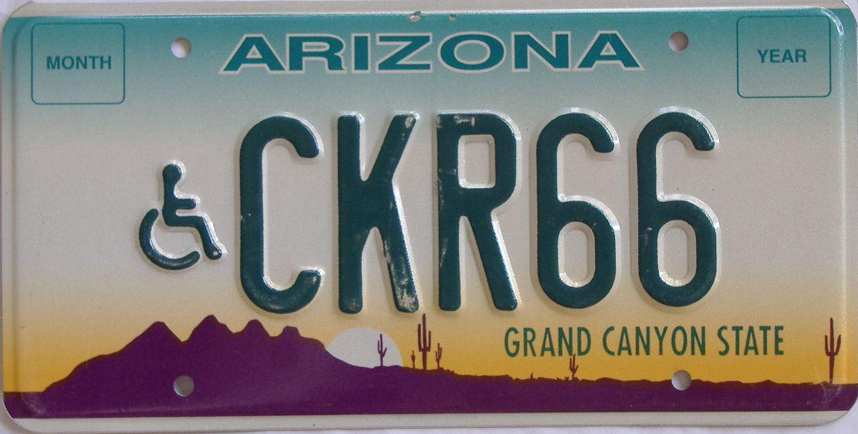 Arizona (Vanity) license plate for sale
