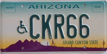 Arizona (Vanity) license plate for sale