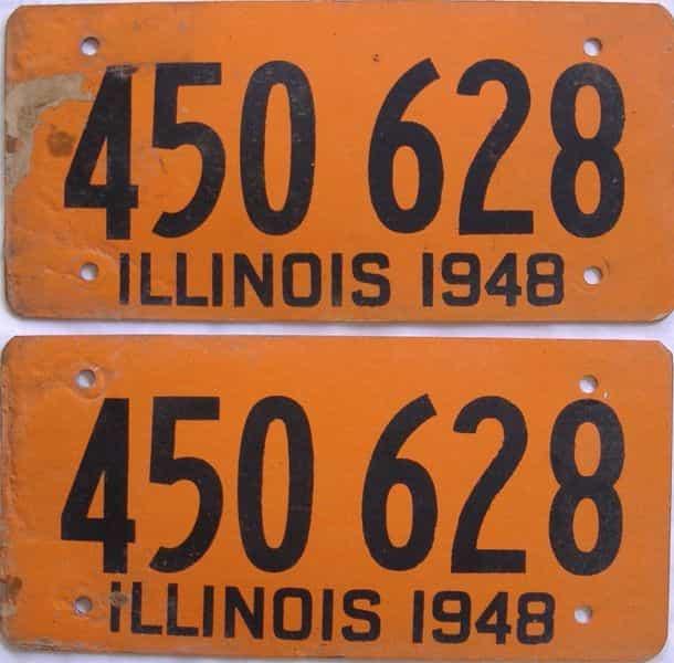 1948 Illinois (Fiber Board) license plate for sale