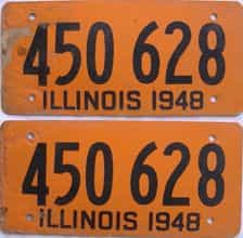 1948 Illinois  (Fiber Board) license plate for sale